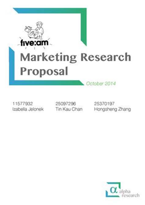 Mcdonalds market research proposal